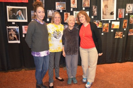 Actors with the playwright Kitty Chen